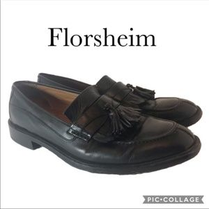 Florsheim men's Dress Shoes Black Leather 10.5